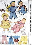 1950s DOLL CLOTHES PATTERN SPARKLE PLENTY, BABY COOS, 18 INCH BABY DOLLS McCALL PATTERNS 1549 UNCUT