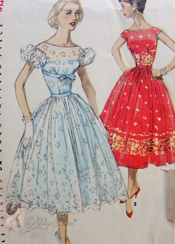 beautiful empire 1950s beautiful evening party dress pattern fitted midriff empire