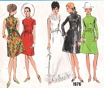 1970s MOD DRESS PATTERN DAY or EVENING  VOGUE BASIC DESIGN 1976