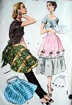 1950s PRETTY CLAMP ON APRON PATTERN SWEET STYLES McCALLS 2052