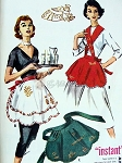 1950s Lovely Instant One Yard Aprons Pattern 3 Styles Easy To Make McCalls 2182 UNCUT One Size