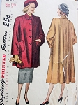 1940s Flare Back Coat or Jacket Pattern Very Joan Crawford Style Simplicity 2184 Vintage Sewing Pattern Bust 33