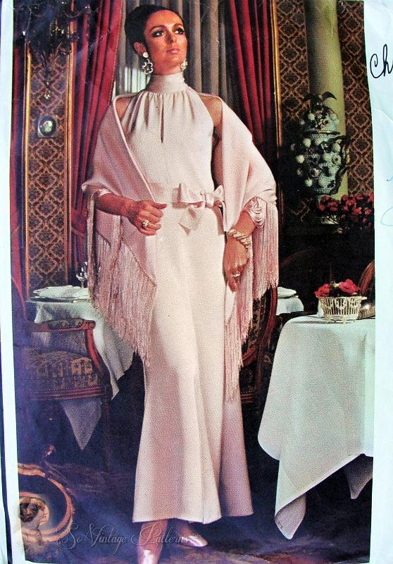 1960s Elegant Dior Evening Gown And Stole Pattern Vogue