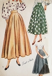 Late 40s Beautiful Skirt Pattern Simplicity 2359  Ballerina or Daytime Lengths Vintage Sewing Pattern