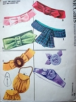 1950s FABRIC BELTS, EVENING PURSE BAG, FABRIC FLOWER PATTERN McCalls 2382 Vintage Sewing Pattern
