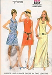 1970s KeyHole Neckline Dress In 2 Lengths Pattern Three Style Versions Very Easy McCalls 2403 Vintage Sewing Pattern UNCUT Bust  31