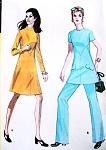 1970s RETRO Empire Dress,Tunic and Pants Pattern McCalls 2622 UNCUT Vintage sewing Pattern Several Sizes Available