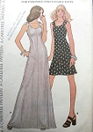 VINTAGE 1970S DRESS PATTERN CUTE SHOULDER TIES, 2 LENGTHS MCCALL'S 3669