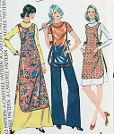 1970s Tunic or Apron Pattern Very Easy To Make McCalls 3845 Vintage Sewing Pattern One Size FACTORY FOLDED