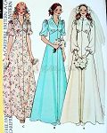 1970s Lovely High Waist Bridal Wedding Gown and Bridesmaid Dress Pattern 3 Lovely Styles Includes Long Train Version McCalls 4207 FF Bust 38