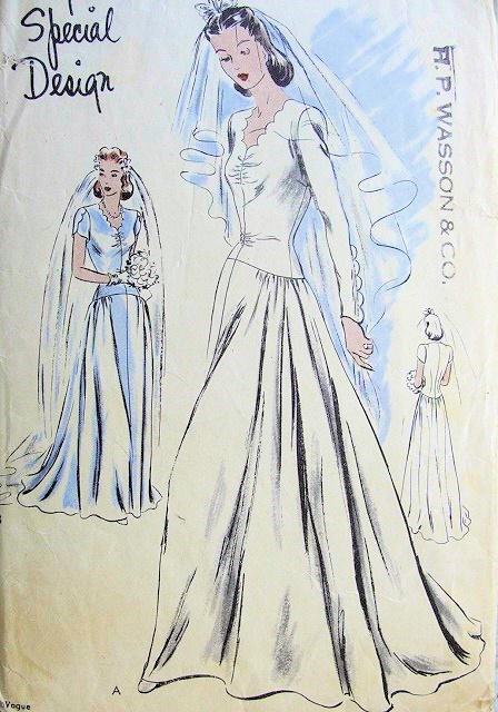 1940 39 s wedding dresses patterns flower girl dresses for 1940s wedding dress patterns