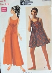 1960s MOD MARY QUANT PANTDRESS PATTERN CULOTTES EMPIRE STYLE, MINI or EVENING LENGTH BUTTERICK YOUNG DESIGNERS 4779