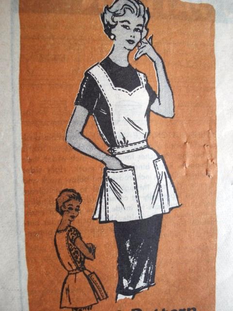 1950s Cute Cobbler Apron Pattern Mail Order 4813
