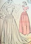 1940s BRIDAL GOWN WEDDING DRESS PATTERN  MATCHING GLOVE MITTS ADVANCE 4819