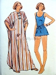 1960s Swimsuit and Caftan Beach Wear Pattern Full Length Beach Lounging coverup Princess Style Bathingsuit Butterick 4862 Uncut Bust 32.5