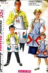 1950s FAMILY APRONS PATTERN EASY TO SEW SIMPLICITY 4939