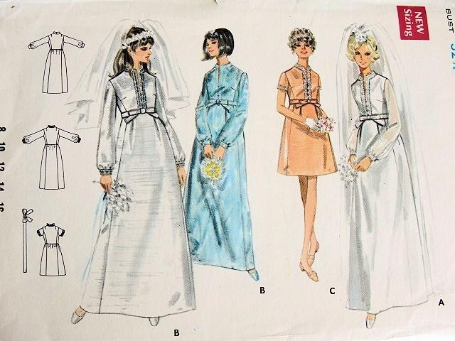 Empire waist wedding dress bridal gown pattern butterick 5284 for Empire waist wedding dress patterns