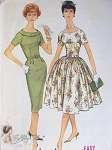 Early 1960s Mad Men Era Fabulous Slim or Full Skirted Dress Pattern Easy To Sew McCalls 5357 Vintage Sewing Pattern Bust 38