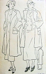 1930s New York Pattern 544 Swagger Coats Wonderful Art Deco Design 2 Lengths Bust 38