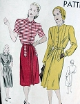 VINTAGE 1940S VOGUE DRESS WITH POCKETS PATTERN 5673