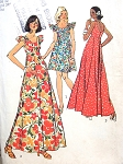 1970s Mini and Maxi Dress Pattern Figure Flattering Fit and Flare Styles  Simplicity 5736 Vintage Sewing Pattern UNCUT Bust 34