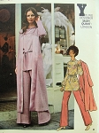 Mod 1960s MARY QUANT Tunic, Pants and Coat Pattern Butterick Young Designers  6038 Uncut Bust 34