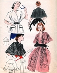 1950s Stoles and Capes Pattern Butterick 6039 Three Daytime or Evening Styles Quick n Easy Vintage Sewing Pattern