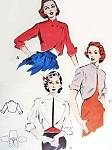 1950s Bolero Shortie Jackets Pattern Butterick 6515 Quick n Easy Straight Boxy Styles Mandarin Collars 3 Striking Designs Bust 34 Vintage Sewing Pattern FACTORY FOLDED