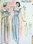 1940S VINTAGE VOGUE NIGHTGOWN PATTERN 6661
