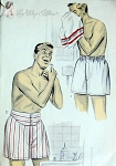 1950s Vintage Gentlemens Boxer Shorts Pattern Advance 6810  Two Styles Regular and Frenchback Version  Waist 28-30