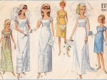 1960s Beautiful Empire Waist Wedding Dress Bridal Gown Bridesmaid Dress Pattern Simplicity 6823 Vintage Sewing Pattern UNCUT