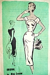 1950s OLEG CASSINI Slim Day or Evening Dress Pattern Prominent Designer A686 Figure Show Off Dress Bust 32 Vintage Sewing Pattern