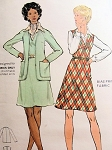 1970s JUMPER, CARDIGAN STYLE JACKET PATTERN BUTTERICK  6952