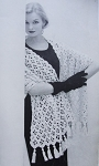 Instant Download Pattern 1950s Beautiful Lace Stole Wrap PDF Crochet Pattern