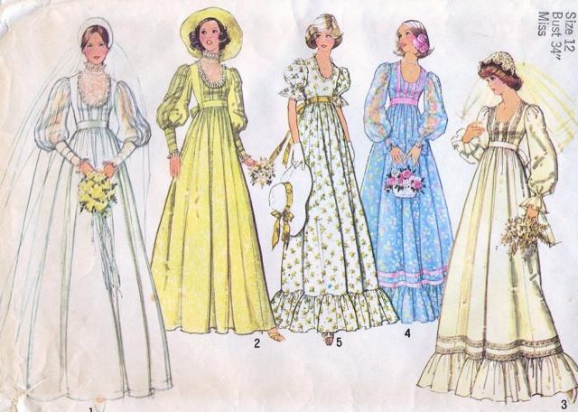 Empire waist dress pattern images for Empire waist wedding dress patterns