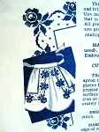 HALF APRONS PATTERN PRETTY ROSES TRANSFER