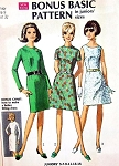 1960s Basic Dress Pattern Two Bodices and Skirts Simplicity 7503 Vintage Sewing Pattern UNCUT Bust 32