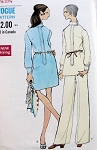 Late 60s Mod Mini Dress Tunic and Pants Pattern VOGUE  SPECIAL DESIGN 7540 Bust 31.5 Vintage Sewing Pattern