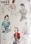 1950s  BOLERO JACKETS, UNIQUE GIRDLE CORSET BELTED CAPELET PATTERN  3 BEAUTIFUL STYLES VOGUE PATTERNS 7560