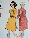 1960s Mod Dress Pattern VOGUE 7661 Cute Style Bust 32.5 Vintage Sewing Pattern