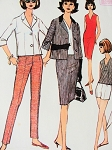 1960s Separates Travel Wear Pattern McCALLS 7758 Jacket, Slim Skirt, Dress or Top, Slim Back Zipper Pants or Shorts Bust 38 Vintage Sewing Pattern FACTORY FOLDED