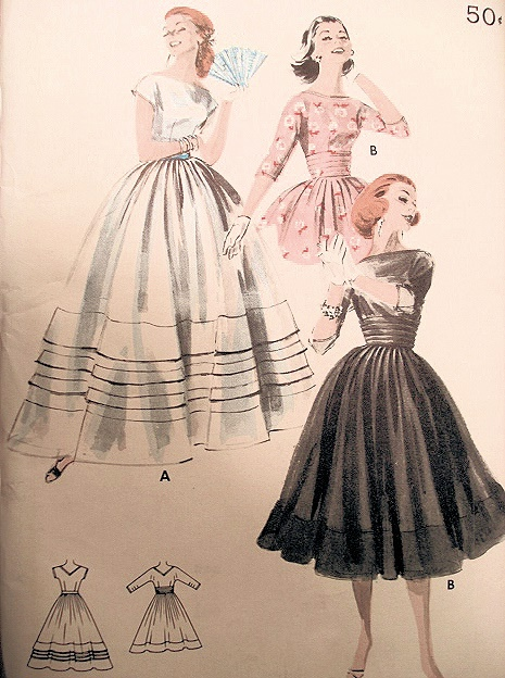 50s evening gown cocktail dress pattern perfect for sheer