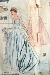1950s BEAUTIFUL WEDDING GOWN BRIDAL DRESS PATTERN  SIMPLICITY DESIGNER 8239