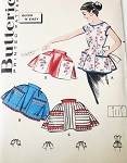 1950s Full Bib or Half Apron Pattern Butterick 8336 Coverall Apron Carry All Pockets or Half Hostess Aprons One Size Quick n Easy Vintage Sewing Pattern