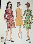 1960s Mod Dress Pattern A Line Dress or 2 PC Bell Sleeved Top and A Line Skirt McCalls 8624 Vintage Sewing Pattern UNCUT Bust 32