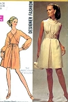 1960s Striking Dress Pattern Day or Evening Simplicity Designer 8648 Two Lovely Styles Vintage Sewing Pattern