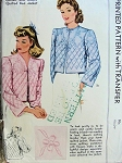 1941 LOVELY QUILTED BED JACKET ROBE 1940s McCALL PATTERN 883 BEAUTIFUL COMFY JACKET INCLUDES QUILTING TRANSFER SIZE Medium