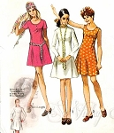 1970s Basic Princess Dress Pattern Two Necklines and Lengths Cute Style Simplicity 8885 Vintage Sewing Pattern UNCUT Bust 36