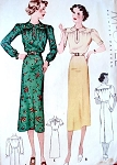 1930s Dress Pattern  McCall 9205 Vintage Sewing Pattern Bust 34