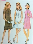 1960s  DART FITTED  SLIM DRESS PATTERN 3 VERSIONS McCALLS 9259